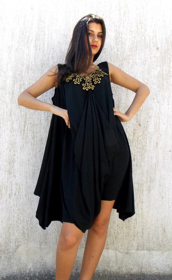 9da8136de9f89 Loose Black Jumpsuit Dress   Plus Size Loose Dress Jumpsuit