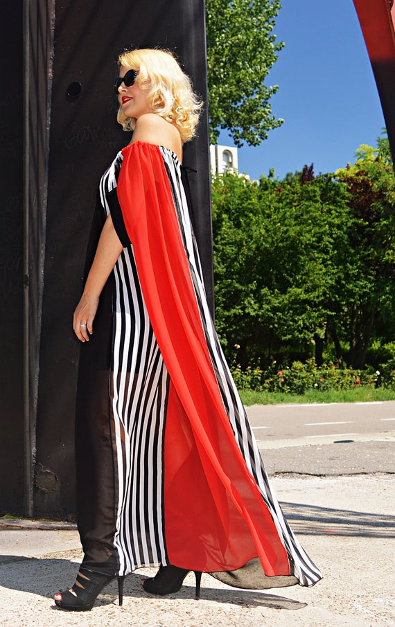Her Striped Striped Summer TDK266 Caftan for by TEYXO Gift Dress Dress Party Caftan Striped Maxi Summer 7AT1w