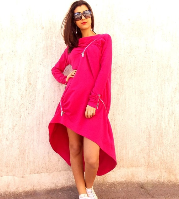 Pink TDK35 Dress Plus Size Dress Sweatshirt Maxi by Dress Size Dress Pink TEYXO Fuchsia Sweatshirt Dress Plus Sweatshirt Pink WaqYnfaHwd