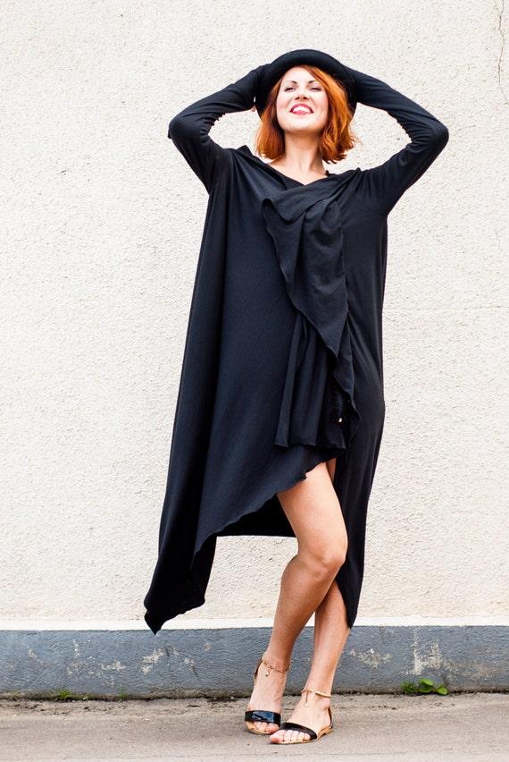 by Plus TDK29 Loose Extravagant Size Black TEYXO Dress Dress Dress Maxi Party Oversize Dress p7xqSTaq