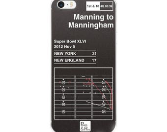 Greatest Giants Plays iPhone Case  Manning to Manningham (2012) 97b96af325