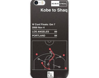 d0620128c98 Greatest Lakers Plays iPhone Case  Kobe to Shaq (2000)