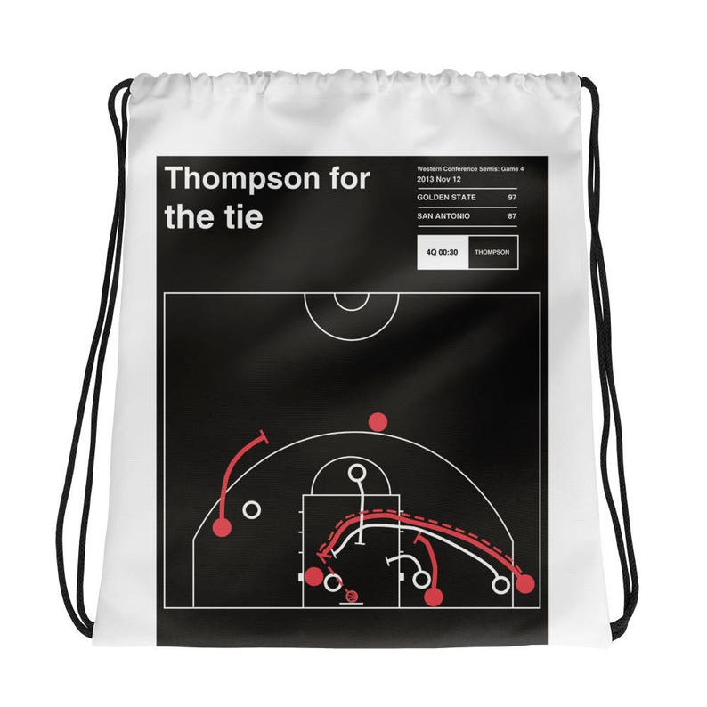 Greatest Warriors Plays Drawstring Bag 2013 Thompson for the tie