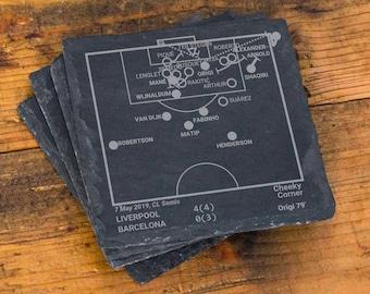 Champion Liverpool 2019 Plays: Slate Coasters (Set of 4)