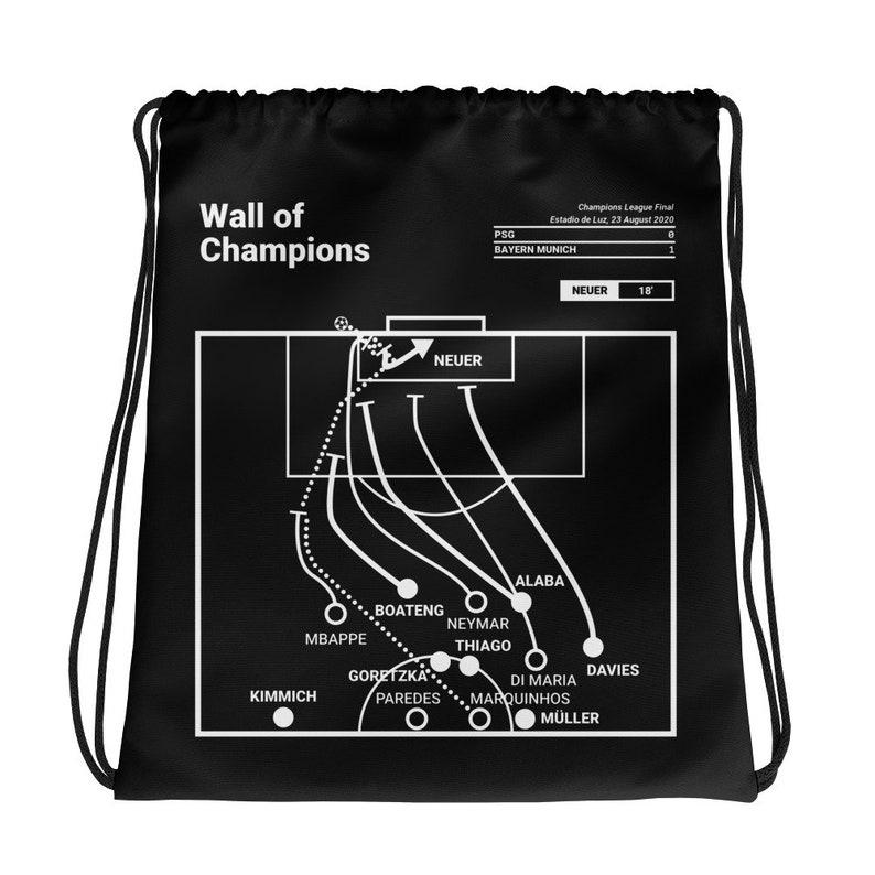 Wall of Champions Greatest Bayern Munich Plays Drawstring Bag 2020