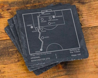 Greatest Manchester United Plays: Slate Coasters (Set of 4)