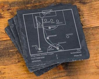 Greatest Arsenal Plays: Slate Coasters (Set of 4)