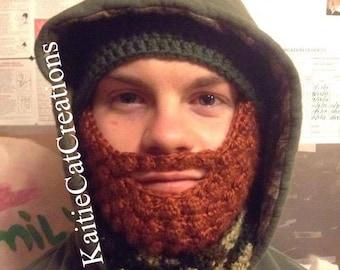 Multi Size: Crochet Beard Hat - Message Me Color of the Beard!