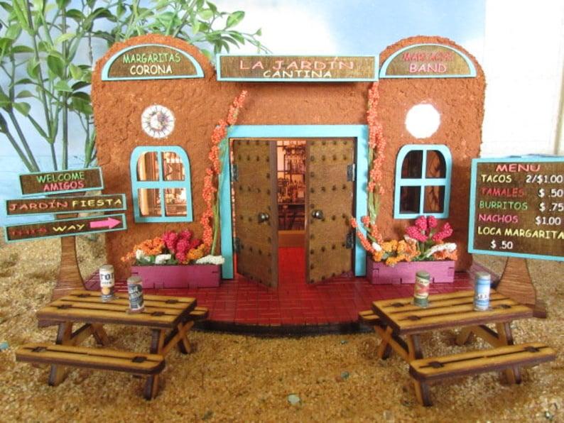 Fairy Garden La Jardin Southwestern Adobe Cantina, Cinco de Mayo hacienda,  miniature house, accessory