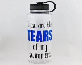 swim coach water bottle, wide mouth sports bottle for swimming coach, swim instructor teacher, gym bottle, personalized swim team gift