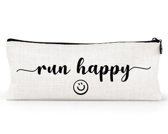 pencil case for runner, small makeup bag, cross country gift, track team, pencil pouch, running, high school runner, personalized for her