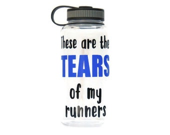 cross country coach water bottle, wide mouth sports bottle for coach, gym bottle, personalized team gift,  XC CC running coach present
