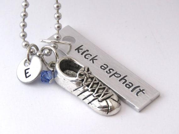 Running necklace kick asphalt pendant running shoe charm  6b2048e45b