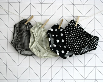 Dotty nappy cover, baby bloomer, various colours