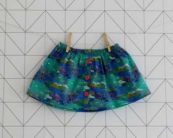"""Buttoned Liberty """"Oxford"""" baby and toddler skirt"""