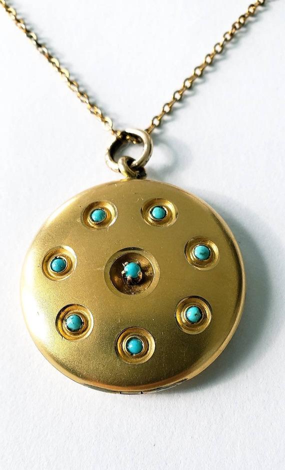 Victorian turquoise locket | antique locket