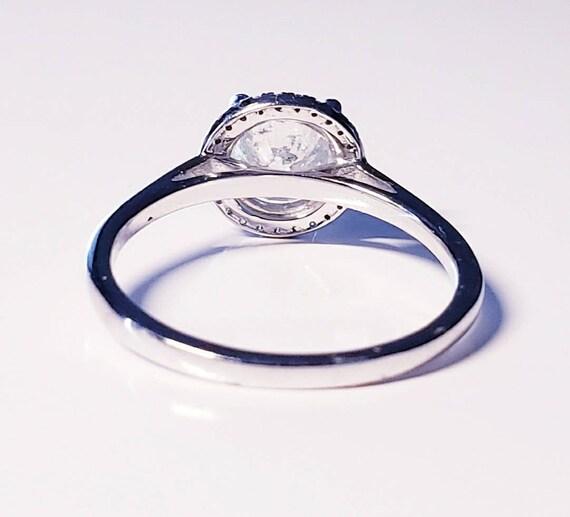 Diamond halo ring | diamond engagement ring | 1.0… - image 4