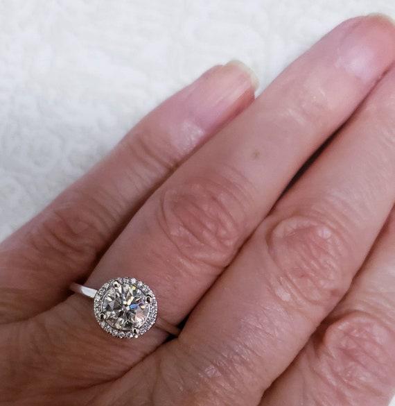Diamond halo ring | diamond engagement ring | 1.0… - image 5