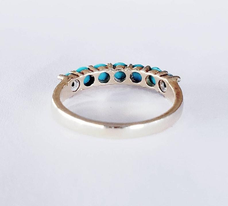 14k turquoise ring turquoise wedding band Turquoise stack ring