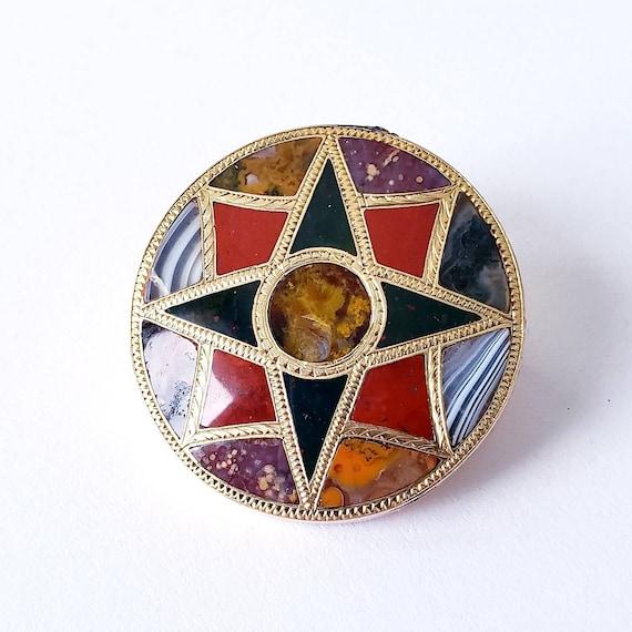Antique Scottish agate brooch | scottish pebble br