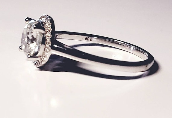 Diamond halo ring | diamond engagement ring | 1.0… - image 3