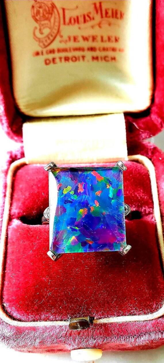 Opal ring | opal triplet | art deco opal ring | ne