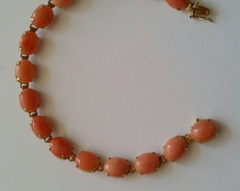 14k coral bracelet