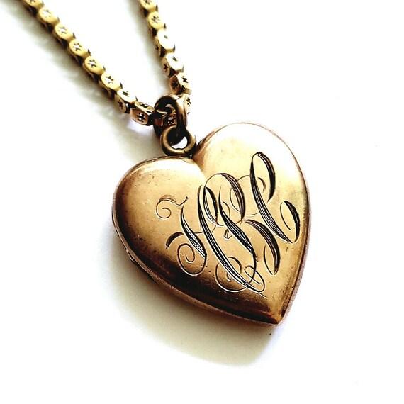 Gold heart locket | Victorian locket | heart locke