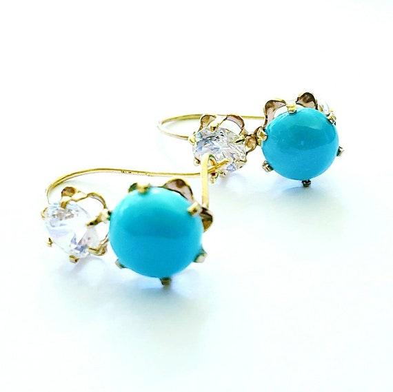 14k turquoise earrings | turquoise earrings