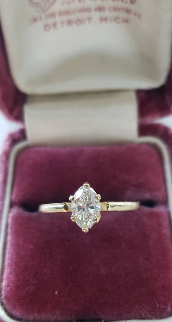 Diamond engagement ring  | marquise diamond ring |
