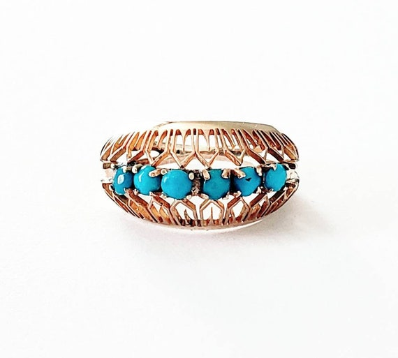 Turquoise stack ring | Vintage turquoise ring | st