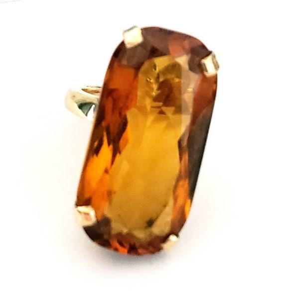 18k topaz ring | 18k birthstone ring | November ba