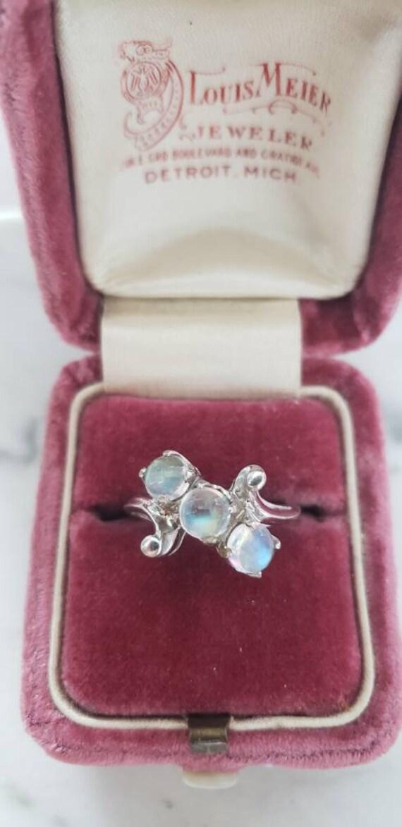 10k moonstone ring | moonstone orb ring