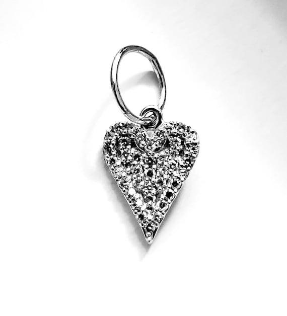 14k diamond heart | diamond heart | diamond pendan