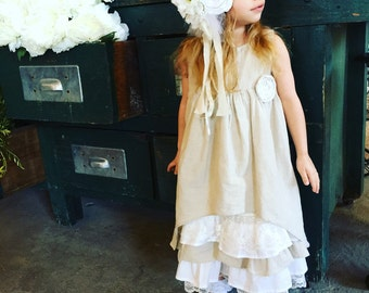 4134d6b6bdc Linen and lace dress