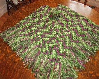 Crocheted Poncho--Adult