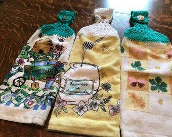 Crochet Kitchen Towels Set of 3