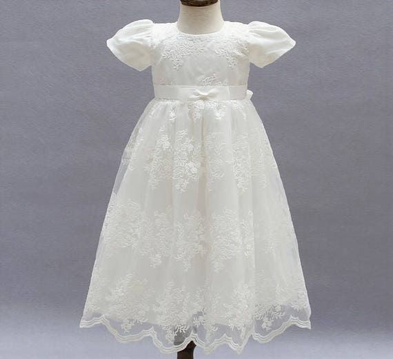 Clothing, Shoes & Accessories Wedding & Formal Occasion Precise White Baptism Communion Christening Flower Girl Bridesmaid Dress Gown Formal