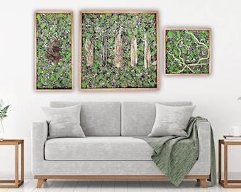 Moss Wall Art, Driftwood Wall Hanging, Moss Wall Decor, BeachHouse Decor, Beach Wall Decor, Driftwood Decor, Moss Frame, Real Moss, Nature