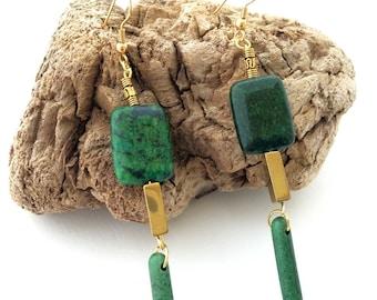 JUNGLE Handmade Tribal Earrings, Boho, Spike, Dangle, Festival, Native, Celebrity, Runway, Unique, Warrior (Beauty in the Jungle Earrings)