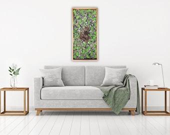 Moss Wall Art, Driftwood Wall Hanging, Moss Wall Decor, BeachHome Decor, Living wall art, Driftwood Decor, Moss Frame, Real Moss, Nature Art