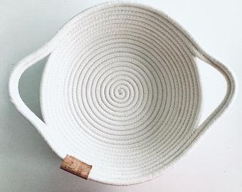 Coiled Rope Basket, Fruit Bowl, Fruit Basket, Rope Bowl, Rope Basket, Bread bowl, bowl