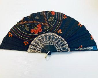Folding fan, collapsable fan, fan, African fan, Ankara fan,