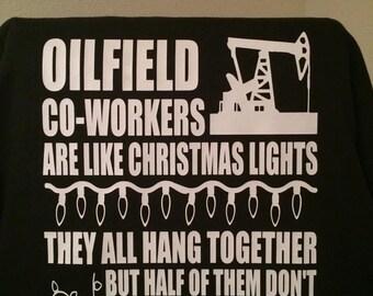 personalized oilfield shirt