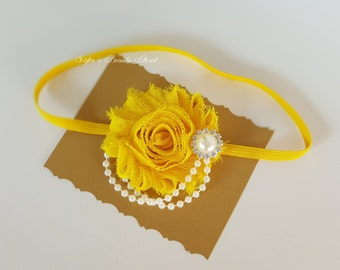 Yellow headband. Yellow baby headband. Easter headband. Fancy headbands. Infant headbands. Newborn headband. Spring wedding. Flower headband