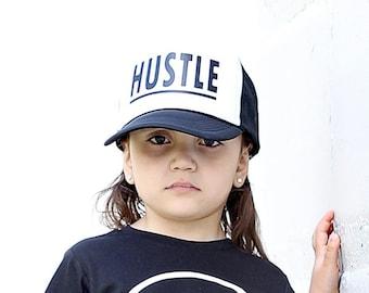 bdd55b68f22 Hustle Hat - Youth Trucker Hat - Toddler Trucker Hat - Kids Trucker Hat -  Trendy Hat - Snap Back - Boys Hat - Girls Hat - Hipster Hat