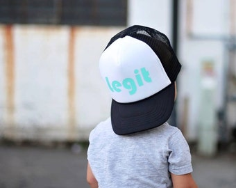 9c167c7771c Legit Hat - Youth Trucker Hat - Toddler Trucker Hat - Kids Trucker Hat - Mesh  Hat - Snap Back - Boys Hat - Girls Hat - Hipster Hat - Legit