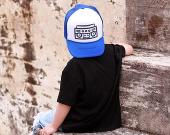 Boom Box - Youth Trucker Hat - Toddler Trucker Hat - Kids Trucker Hat - Trendy Kids Hat - Snap Back - Boys Hat  - Girls Hat - Hipster Hat