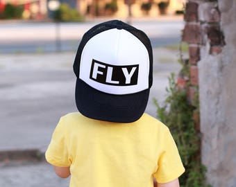 Fly Hat - Youth Trucker Hat - Toddler Trucker Hat - Kids Trucker Hat - Trendy Hat - Snap Back - Boys Hat  - Girls Hat - Hipster Hat - Fly