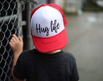 07f110f0c5c Hug Life - Youth Trucker Hat - Toddler Trucker Hat - Kids Trucker Hat -  Trendy Hat - Snap Back - Boys Hat - Girls Hat - Hipster - Funny Hat
